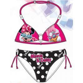 Disney by Arnetta Dievčenské dvojdielne plavky Minnie-Daisy - ružovo-čierne
