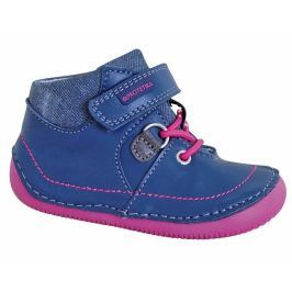 Protetika Dievčenské členkové topánky barefoot Lens - modré