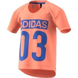 adidas Dievčenské tričko Favorites - lososové