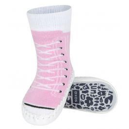 SOXO® Dievčenské ponožky s podrážkou Tenisky - ružové