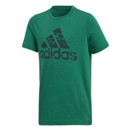 adidas Chlapčenské tričko - tmavo zelené