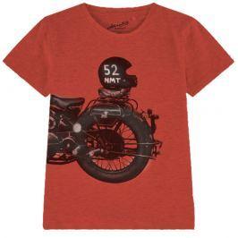 Name it Chlapčenské tričko s motorkou - oranžové