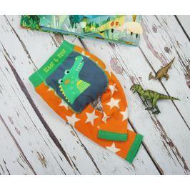 Blade & Rose Chlapčenské legíny s krokodílom - oranžovo-zelené