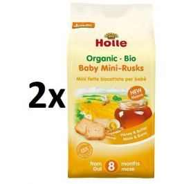 Holle BIO detské špaldové mini sucháre 2x100g