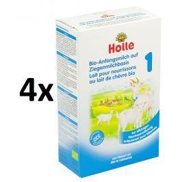 Holle BIO počiatočná detská mliečna výživa na báze kozieho mlieka 1 - 4x400g