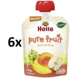 Holle BIO ovocné pyré jablko, mango 6x90g - kapsička