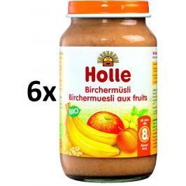 Holle BIO príkrm cereálne müsli s ovocím 6x220g