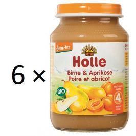 Holle BIO príkrm hruška a marhuľa 6x190g