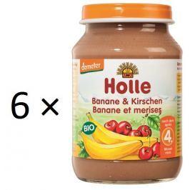 Holle BIO príkrm banán a čerešne 6x190g