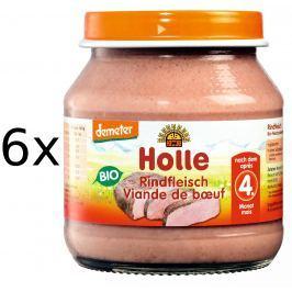 Holle BIO príkrm hovädzie mäso 6x125g