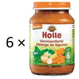 Holle BIO príkrm zeleninová zmes 6x190g