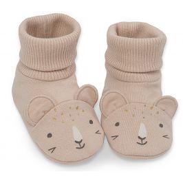 Pinokio Dievčenské ponožky / capáčky Sweet Panther - oranžové