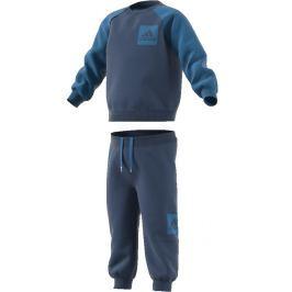 adidas Chlapčenská tepláková súprava - modrá