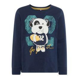 Name it Chlapčenské tričko s psíkom - tmavo modré