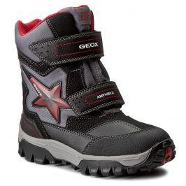 Geox Chlapčenské zimné topánky Himalaya - čierne