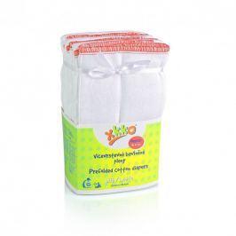 XKKO Skladané bavlnené plienky Biele - Regular, 6ks