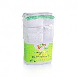 XKKO Skladané bavlnené plienky Biele - Premium, 6ks