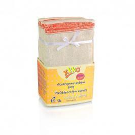XKKO Skladané bavlnené plienky Natural - Regular, 6ks