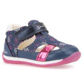 Geox Dievčenské sandále Each - modro-ružové