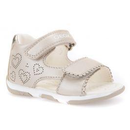 Geox Dievčenské sandále Tapuz - béžové