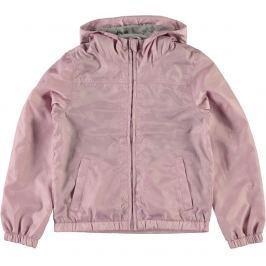 Name it Dievčenská šušťáková bunda s kvietkami - ružová