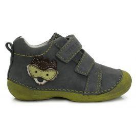 D.D.step Chlapčenské členkové topánky s líškou - šedé