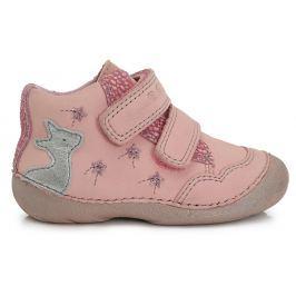 D.D.step Dievčenské členkové topánky so srnkou - ružové