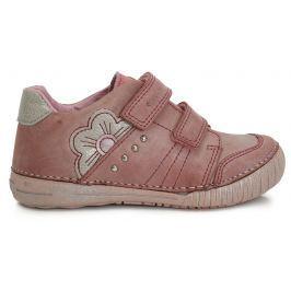 D.D.step Dievčenské členkové topánky s kvetinkou - ružové