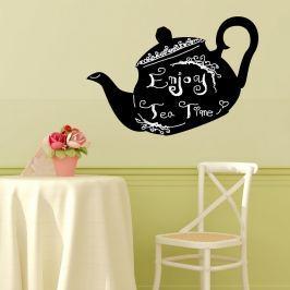 Walplus Samolepiaca tabuľa na stenu, čajová kanvica