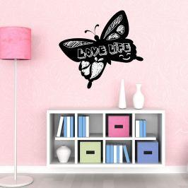 Walplus Samolepiaca tabuľa na stenu, motýľ