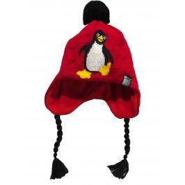 O'Style Dievčenská čiapka s tučniakom - červená