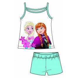 Disney by Arnetta Dievčenský komplet tielka a kraťasov Frozen - svetlo modrý