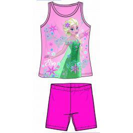 Disney by Arnetta Dievčenský komplet tielka a kraťasov Frozen - ružový