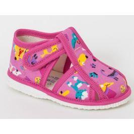 RAK Dievčenské obrázkové papučky - ružové