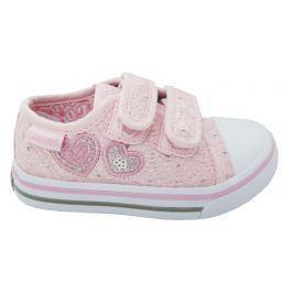 Canguro Dievčenské tenisky so srdiečkami - ružové