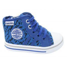 Canguro Chlapčenské vzorované členkové tenisky - modré