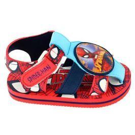 Disney by Arnetta Chlapčenské sandále Spiderman - červeno-modré