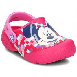 Crocs Dievčenské sandále FunLab Mickey Mouse - ružové