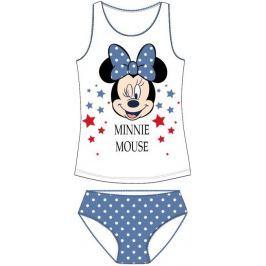 E plus M Dievčenská súprava tielka a nohavičiek Minnie - bielo-modrá