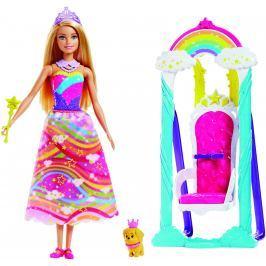 MATTEL Barbie princezná s dúhovou hojdačkou
