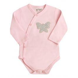 Nini Dievčenské zavinovacie body s motýľom - ružové