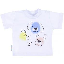 Ewa Klucze Chlapčenské tričko s psíkmi Lovely - biele