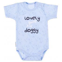 Ewa Klucze Chlapčenské body Lovely doggy - modré
