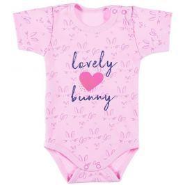 Ewa Klucze Dievčenské body Lovely bunny - ružové