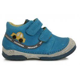 D.D.step Chlapčenské členkové topánky s autom - tyrkysové