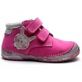 D.D.step Dievčenské členkové topánky so zajačikom - ružové