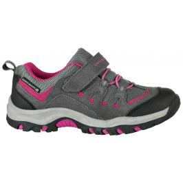 ALPINE PRO Dievčenská outdoorová obuv Riono - šedo-červená