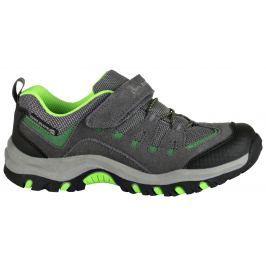 ALPINE PRO Chlapčenská outdoorová obuv Riono - šedo-zelená