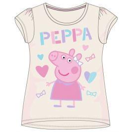 E plus M Dievčenské tričko Peppa Pig - šedé