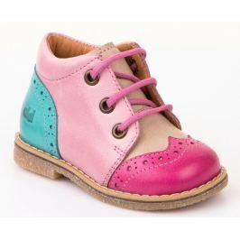 Froddo Dievčenské členkové topánky - ružovo-hnedé
